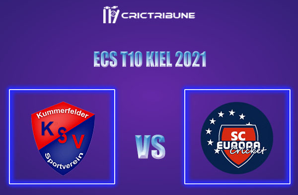 KSV vs SCE Live Score,In theMatchof ECS T10 Kiel 2021which will be played at Kiel Cricket Ground, Kiel. KSV vs SCE Live Score,Match between Kummerfelder...