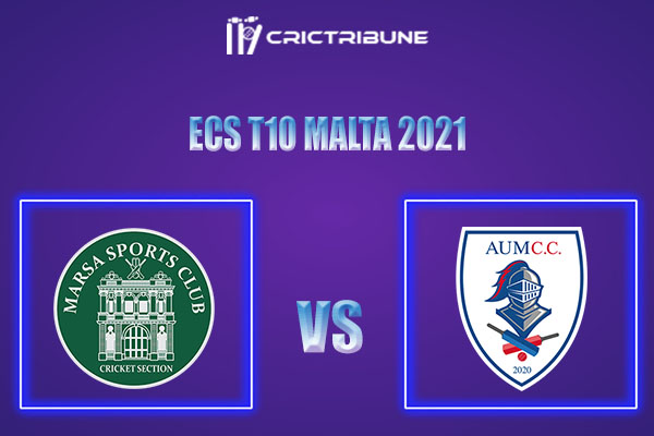 MAR vs AUM Live Score,In theMatchof ECS T10 Malta 2021which will be played at Marsa Sports Club, Malta.. MAR vs AUM Live Score,Match between Marsa.........