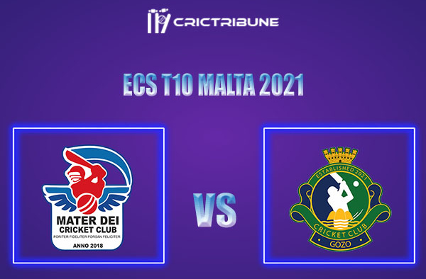 MTD vs GOZ Live Score,In theMatchof ECS T10 Malta 2021which will be played at Marsa Sports Club, Malta. MTD vs GOZ Live Score,Match between Mater Dei......