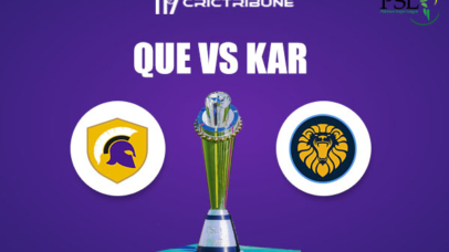 QUE vs KAR Live Score,In theMatchof Pakistan Super League 2021which will be played at Sheikh Zayed Stadium, Abu Dhabi. QUE vs KAR Live Score,Match between.