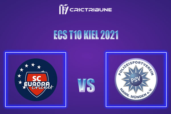 SCE vs PSV Live Score,In theMatchof ECS T10 Kiel 2021which will be played at Kiel Cricket Ground, Kiel. SCE vs PSV Live Score,Match between SC Europa......