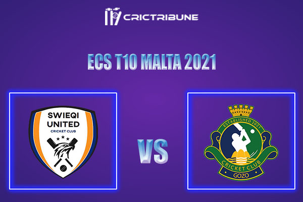 SWU vs GOZ Live Score,In theMatchof ECS T10 Malta 2021which will be played at Marsa Sports Club, Malta.. SWU vs GOZ Live Score,Match between Swieqi........
