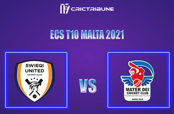 SWU vs MTD Live Score,In theMatchof ECS T10 Malta 2021which will be played at Marsa Sports Club, Malta.. SWU vs MTD Live Score,Match between Swieqi United .