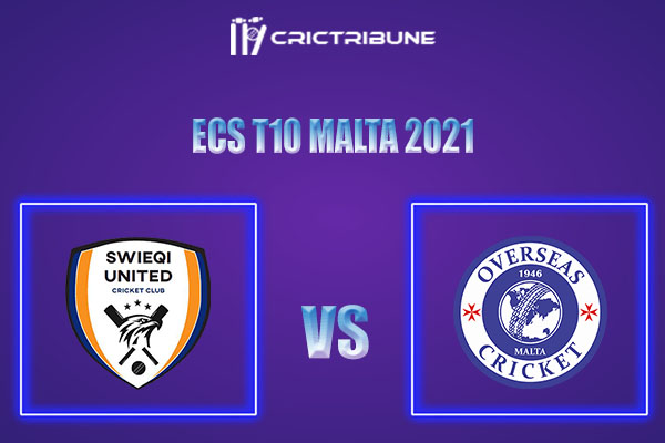 SWU vs OVR Live Score,In theMatchof ECS T10 Malta 2021which will be played at Marsa Sports Club, Malta.SWU vs OVR Live Score,Match between Swieqi United..