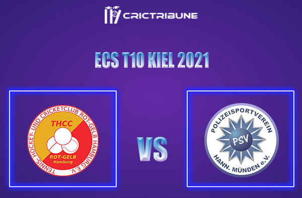 THCC vs PSV Live Score,In theMatchof ECS T10 Kiel 2021which will be played at Kiel Cricket Ground, Kiel. THCC vs PSV Live Score,Match between THCC Hambu...