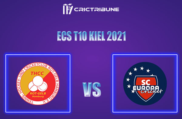 THCC vs SCE Live Score,In theMatchof ECS T10 Kiel 2021which will be played at Kiel Cricket Ground, Kiel. THCC vs SCE Live Score,Match between THCC Hamburg.