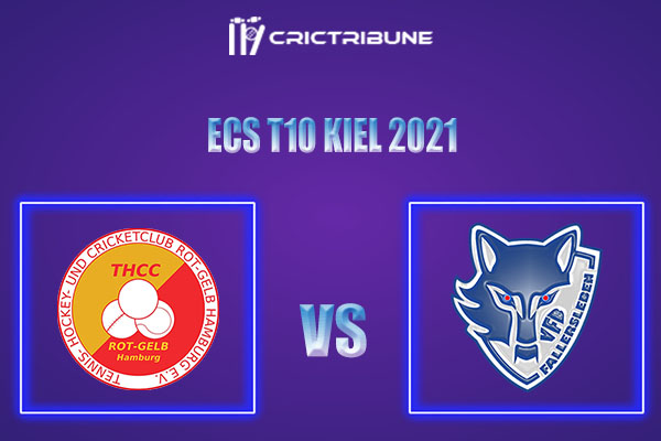 THCC vs VFB Live Score,In theMatchof ECS T10 Kiel 2021which will be played at Kiel Cricket Ground, Kiel. THCC vs VFB Live Score,Match between..............