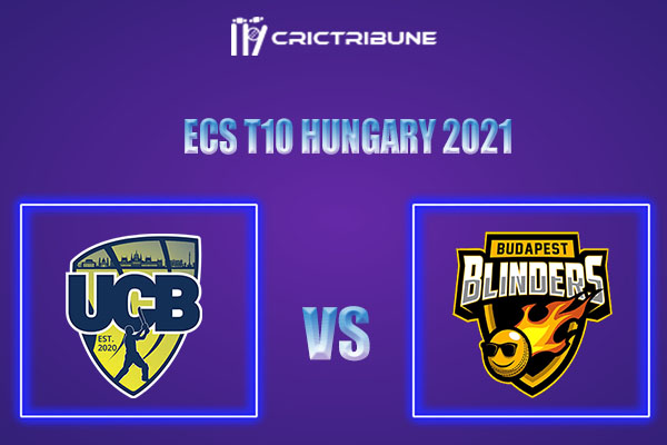 UCB vs BUB Live Score,In theMatchof ECS T10 Hungary 2021which will be played at GB Oval, Szodliget. UCB vs BUB Live Score,Match between United Csalad......