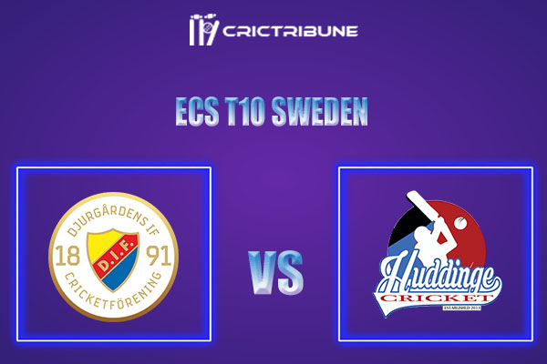 DIF vs HUD Live Score,In theMatchof ECS T10 Sweden 2021which will be played at Norsborg Cricket Ground, Stockholm. DIF vs HUD Live Score,Match between.....