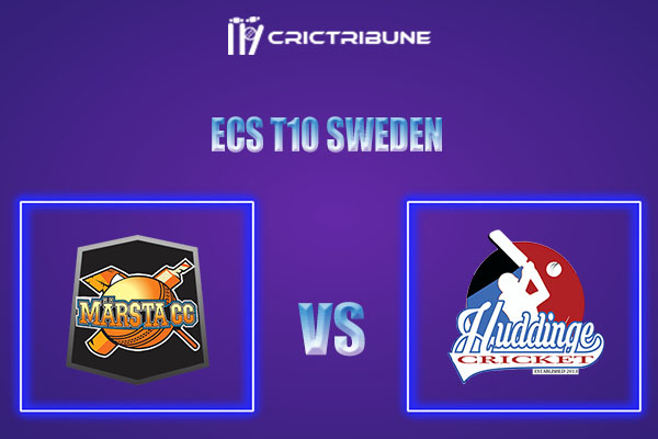 MAR vs HUD Live Score,In theMatchof ECS T10 Sweden 2021which will be played at Norsborg Cricket Ground, Stockholm. MAR vs HUD Live Score,Match between.....