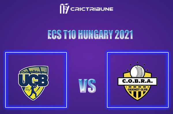 COB vs UCB Live Score,In theMatchof ECS T10 Hungary 2021which will be played at GB Oval, Szodliget. COB vs UCB Live Score,Match between United Csalad......