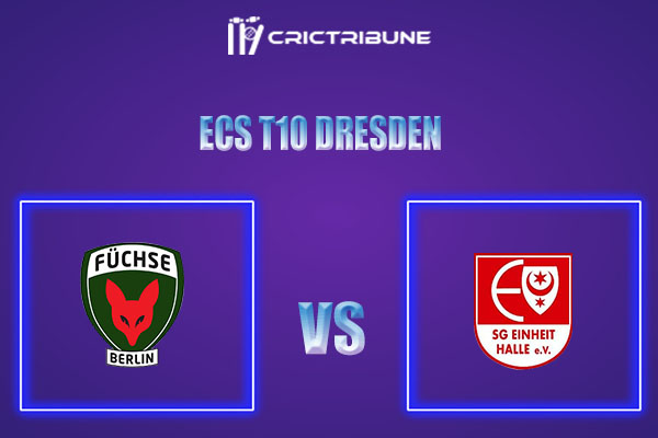 FBL vs EIH Live Score,In theMatchof ECS T10 Dresden 2021which will be played at Rugby Cricket Dresden eV, Dresden. FBL vs EIH Live Score,Match between.....