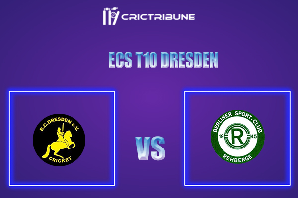RCD vs BSCR Live Score,In theMatchof ECS T10 Dresden 2021which will be played at Rugby Cricket Dresden eV, Dresden. RCD vs BSCR Live Score,Match between...