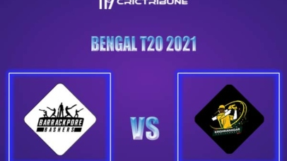 BB vs KC Live Score,In theMatchof Bengal T20 Challenge 2021,which will be played at Eden Gardens, Kolkata. BB vs KC Live Score,Match between Barrackpore...
