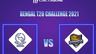 KH vs KB Live Score,In theMatchof Bengal T20 Challenge 2021,which will be played at Eden Gardens, Kolkata. KH vs KB Live Score,Match between Kolkata.......