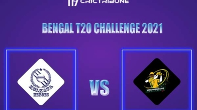 KH vs KC Live Score,In theMatchof Bengal T20 Challenge 2021,which will be played at Eden Gardens, Kolkata. KH vs KC Live Score,Match between Krishnanagar..