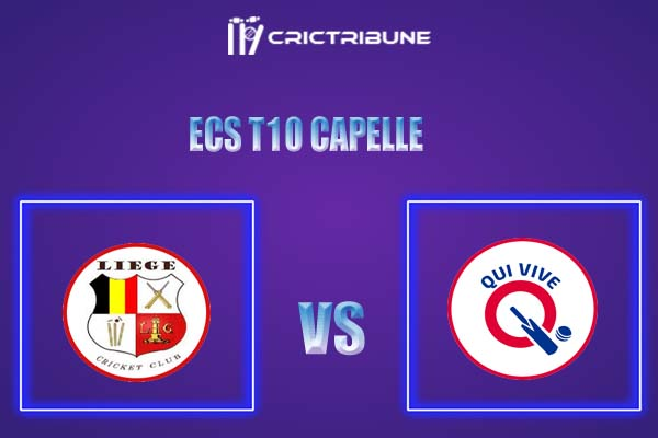 LIE vs QUV Live Score,In theMatchof ECS T10 Capelle 2021which will be played at Sportpark Bermweg, Capelle. LIE vs QUV Live Score,Match between Liege vs...