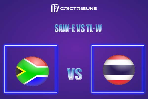 SAW-E vs TL-W Live Score,In theMatchof SA Emerging Women vs Thailand Women,which will be played at Senwes Park, Potchefstroom. SAW-E vs TL-W Live Score,....
